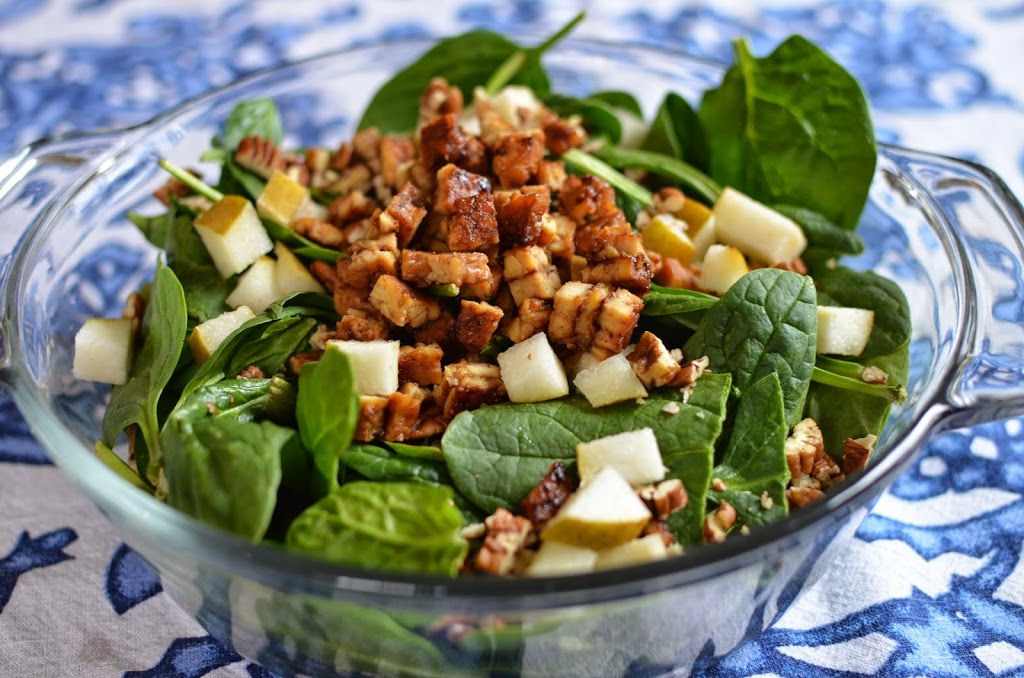 Spinach Salad with Shallot Dijon Dressing