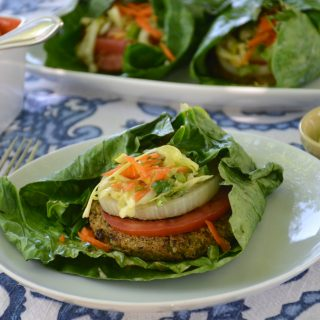 [Hilary's Eat Well] Grilled Collard Wraps with Southwestern Mango Slaw