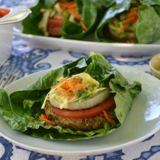 [Hilary's Eat Well] Grilled Collard Wraps with Southwestern Mango Slaw