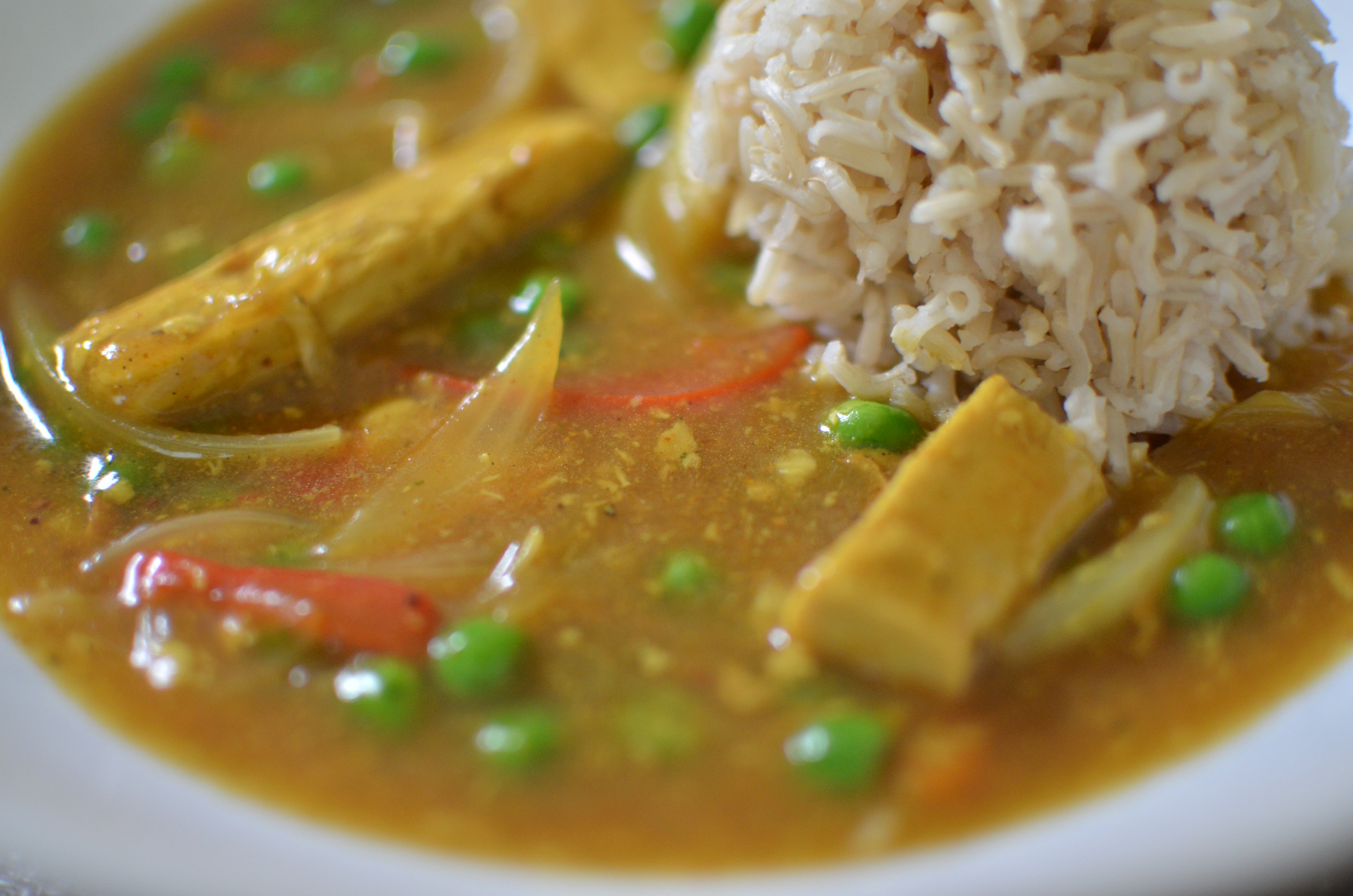 Vegan Curry Chicken