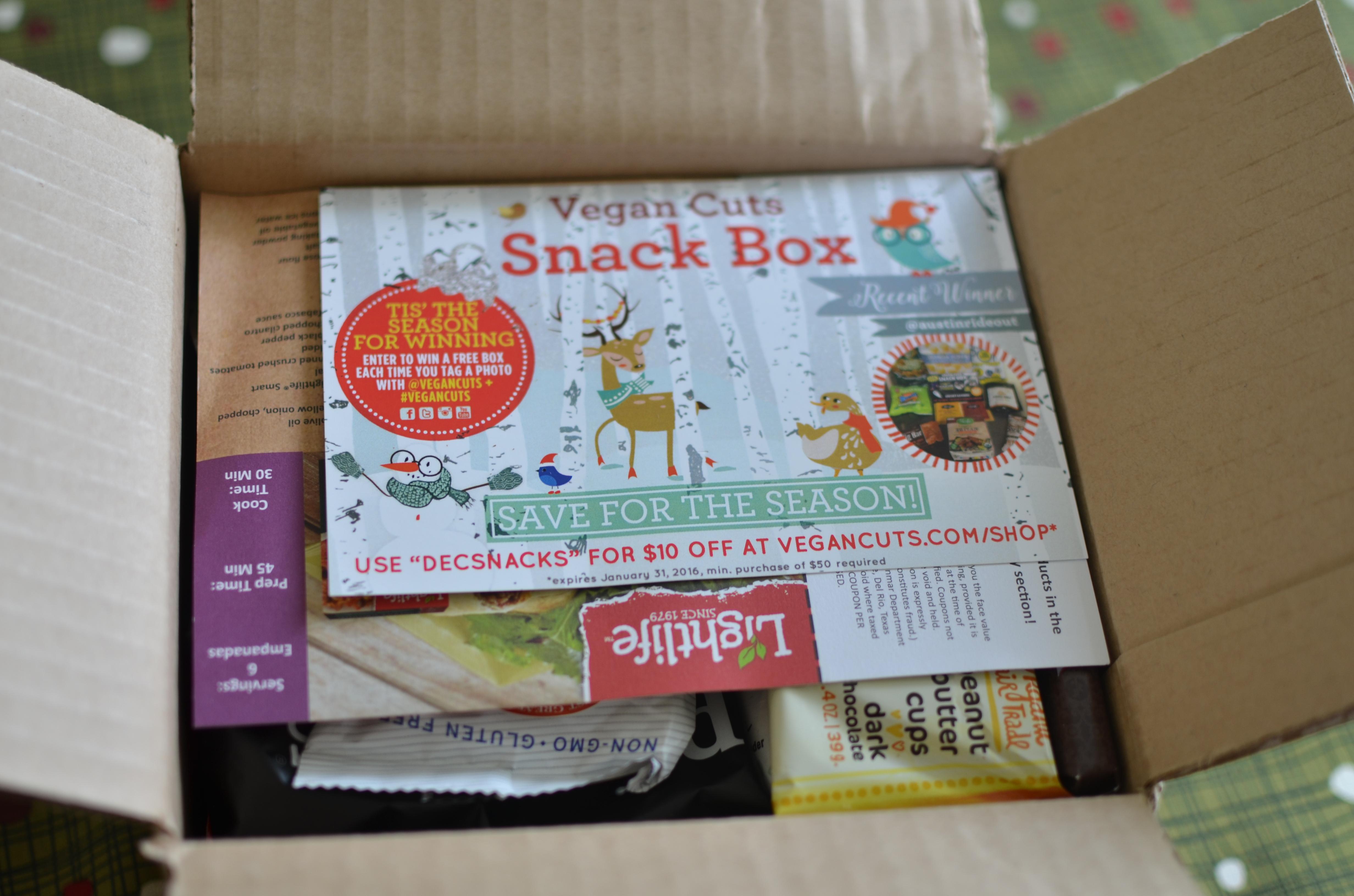December Vegan Cuts Snack Box Review