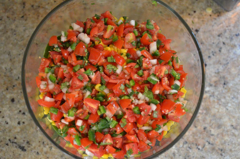 Pico de Gallo on the salad