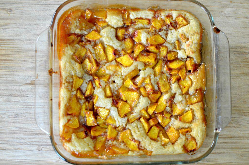Kentuck Peach Cobbler. An easy vegan recipe that's so ridiculously delicious!
