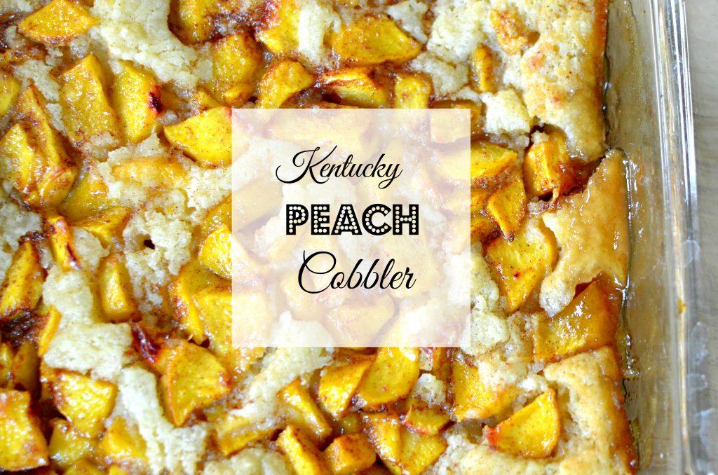 Kentucky Peach Cobbler